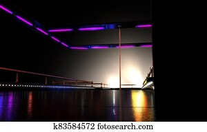 Strip Club Stage And Lights