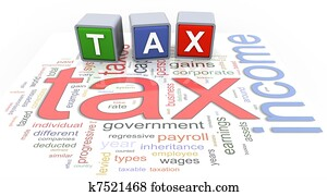 3d buzzword text tax