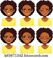 African American Woman Expressions