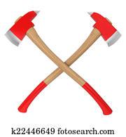 Firefighter axes