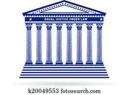 Justice court building image logo