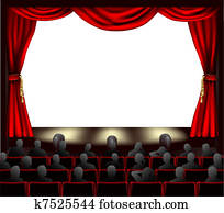 kino, mit, publikum