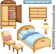Schlafzimmer Mobel Clipart Illustrationen 11 923 Schlafzimmer Mobel