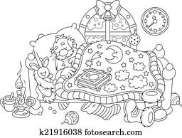 weihnachtsmann, eingeschlafen