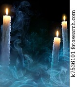 art background with candles for a Halloween party