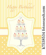 Cupcake stencil invitation