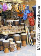 djembe, und, afrikanisch, handwerk