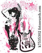 music rock woman