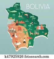 Illustrative map of Bolivia