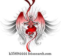 Gothic Cross Angel