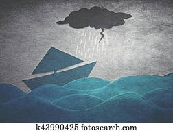 ships in storm