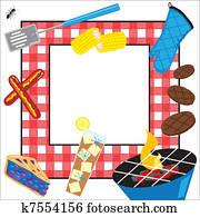 sommerzeit, picknick, party, einladung