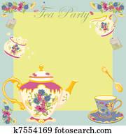 Tea Party Garden Party Invitation