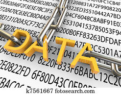 3d concept of data security