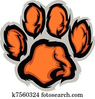 Tiger Paw Mascot Vector Illustratio
