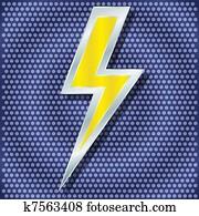Clip Art Lampo Simboli K6503429 Cerca Clipart Poster
