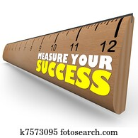 Measure Your Growth Ruler to Review and Assess Progress to Goal