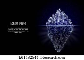 Iceberg vector geometric polygonal art style design