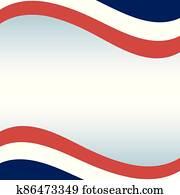 france flag frame of happy bastille day vector design