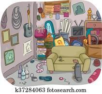 Hoarding Clutter Interior