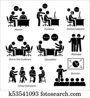 mentor, anleitung, trainer, für, geschaefts, executive.