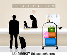 Receptionist Stock Illustrations | Our Top 997 Receptionist art | Fotosearch