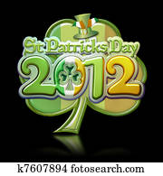 St Pats Day Clover 2012 Graphic b