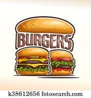 Vector logo double burgers