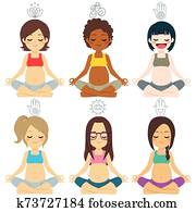 Yoga Pregnant Poses Diverse Group