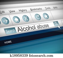 Alcohol abuse concept.