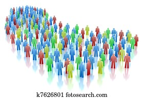 Colorful people crowd concept