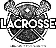 Vintage Lacrosse Sports Stamp