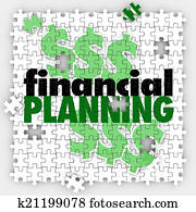 Financial Planning Puzzle Pieces Finish Budget Retirement Saving