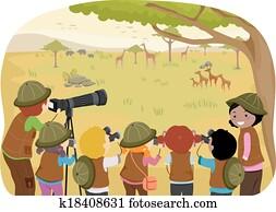 Klettergerüst Clipart : Geburt bildung klassen draußen clipart k17315033 fotosearch