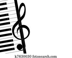 treble clef and piano