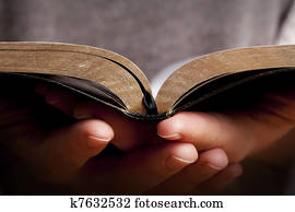 Woman Holding the Bible