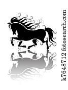 Clipart Cavallo Stilizzato K7648735 Cerca Clipart