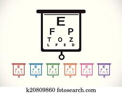 Eye Chart Test Illustration