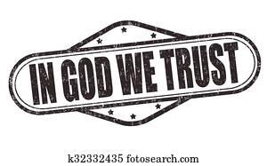 In God we trust stamp