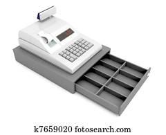 Cash register without money