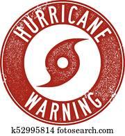 Hurricane Warning Stamp