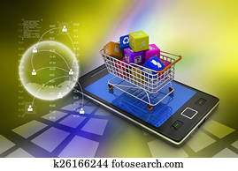 Internet and Online Shopping Concept