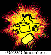 Smartphone causing Crash Victim