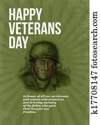 World War two Veterans Day Soldier Card Sketch