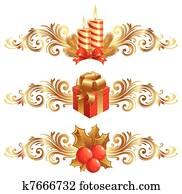 Vector Christmas symbols & ornament