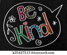 Be Kind Chalkboard Text