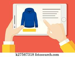 Vector online shopping