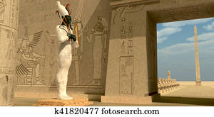 Osiris Statue in Pharaoh Temple