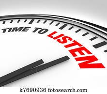 Time to Listen Words on Clock - Hear and Understand