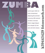 A template for a Zumba clas